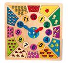 Puzzle Orologio Colori e Forme in legno per gioco ed apprendimento Legler