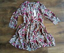 BNWT Glamourous 3/4 sleeve UK size 10 zip back printed dress
