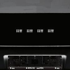 4 Aufkleber 5cm weiß DM Stäbchen Symbole Tattoo Auto Deko Folie Depeche Mode