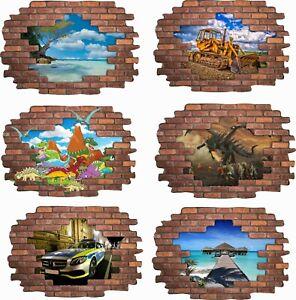 Wandtattoo Wandbild 3D Wandsticker Wand-Aufkleber Wanddurchbruch Sticker Folie