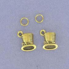 LOT OF 2  MADHATTER HAT CHARMS, GP