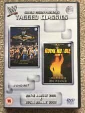 WWE - TAGGED CLASSICS Royal Rumble 2001 & 2002 (DVD) 01 02 WWF Rare
