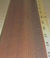 "Larch Fumed Euro Q/C wood veneer 3"" x 43""-57"" raw no backing 1/42"" thickness ""A"""