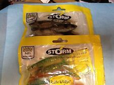 Two Packages Storm Lures-Unopened-e & m
