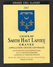 GRAVES GCC VIEILLE ETIQUETTE CHATEAU SMITH HAUT LAFITTE 1961 §21/05§