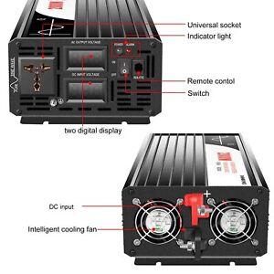 2000W dc12V 24V 48V to ac 120C /220V  Pure Sine Wave power Inverter