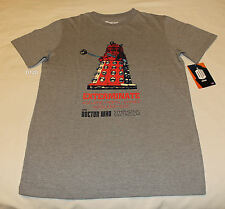 BBC Doctor Who Dalek Mens Grey Marle Printed Short Sleeve T Shirt Size XL New
