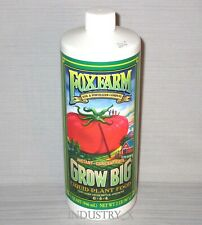 Grow Big ~ FoxFarm Nutrients ~ 32oz Fox Farm ~ Hydroponics or Soil