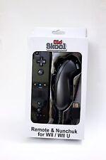 Wii & Wii U Remote Nunchuk Controller Strap & Silicon Set - Old Skool (Black)