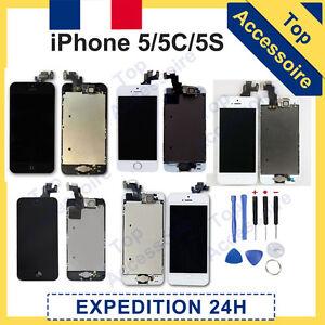 ECRAN COMPLET LCD RETINA + VITRE TACTILE SUR CHASSIS POUR IPHONE 5/5C/5S +OUTILS