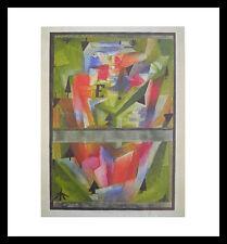 Paul Klee Landschaft bei E Poster Bild Kunstdruck im Alu Rahmen schwarz 48x46cm