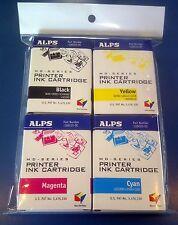 Alps MD Printer Ink Cartridge - CMYK Color 4-Pack 106058-00