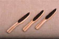 Men Boar Bristle Beard Mustache Styling Brush Facial Hair Shaving Bamboo Handle