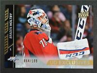 2015-16 Upper Deck Exclusives #438 Braden Holtby /100 - NM-MT
