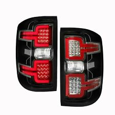 Anzo Tail Lights LED Black Sequential Signal For 14-18 Chevy Silverado #311289