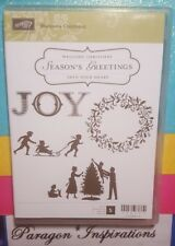 Stampin Up WELCOME CHRISTMAS Stamps Tree Winter Wreath Joy Silhouette Family