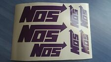NOS, Nitrous Oxide system Emblems / Stickers / Decals - 6 total, multiple colors