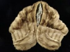Vintage Mink Stole (with pockets and silk interior with knight motive)