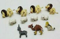 Vintage Plastic Anthropomorphic Animals Miniature Lot Lion Camel Bear Pig Donkey