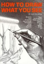 How to Draw What You See Rudy de Reyna 1972 HC/DJ Book Good Cond Smoke-free