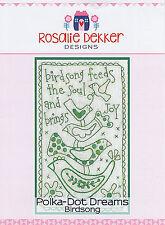 Polka Dot Dreams Birdsong RQ606 - Pre-printed Embroidery Linen