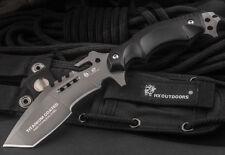 HX OUTDOORS Straight Fixed Blade Knife Full Tang Very Sharp With Sheath Badass