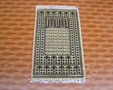 Floor Mat Hand Knotted Small Beige Color Door Mat 2'x3 Silk Rugs Oriental Carpet