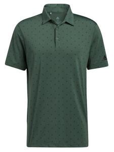 adidas Ultimate365 Printed Polo Shirt - Green Oxide/Black -  Mens