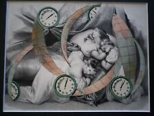 Delmeire François-xavier - pièce unique, collage papier - Décalage horaire