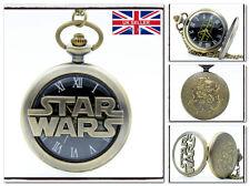 New Star Wars Hollow Necklackle Pocket Watch The Last Jedi Rey BB8 *UK Stock
