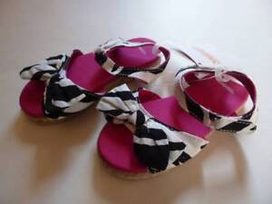 GYMBOREE Wild For Zebra Print Stripes Espadrille Sandals Shoes Toddler 7 10 NEW