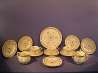 ROYAL WORCESTER, CUMBERLAND PATTERN RED,  TEA SET 14 PIECES