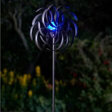 Smart Garden Wind Spinner Spiro with Solar Crackle Ball Metal Patio Decoration