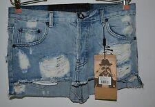 One Teaspoon, Skirt, Original Junkyard, Classic Blue, Size 10, Distressed, 5 Poc