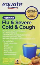 Equate Nighttime Flu and Severe Cold and Cough 6 packets