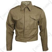 British Army Pattern 37 Tunic WW2 Repro - Serge Brown Battle Dress All Sizes New
