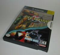 Metroid Prime (Nintendo GameCube, 2004) w/ Bonus Disc Complete CIB Nice Shape