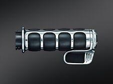 Kuryakyn 6342 Chrome ISO-Grips w/ Throttle Boss 82-17 Harley Davidson