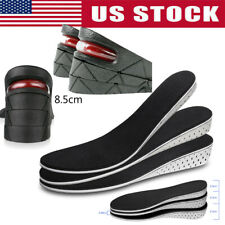 US Men Women Invisible Heel Lift Taller Shoe Inserts Height Increase Insoles Pad