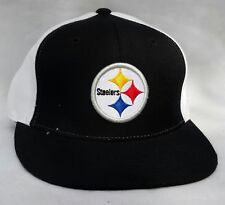 NFL Pittsburgh Steelers Black & White Reebok Fitted 7 1/2 Hat Cap