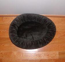 """MEDIUM*19""""*PET*DOG*CAT*ANIMAL*BLACK*WAVY*PRINT*SOFT*PLUSH*WASHABLE*NEST*BED*NWOT"""
