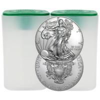 Lot of 40 - 2018 $1 American Silver Eagle 1 oz BU 2 Full Rolls