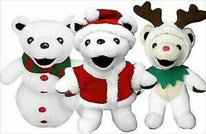 Grateful Dead BEAN BEAR KRINGLE RUDOLPH RED JACK SNOW Plush Christmas Doll Plush