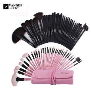 Vander 32pc Professional Makeup Brush Set - pink or black