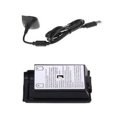 Battery Cover+USB Play and Charge Charging Cables for Xbox 360 Controllers