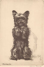 "DIANA THORNE'S Cairn Terrier ""PISTACHE"" Vintage 1935 Dog Art Bookplate Print"