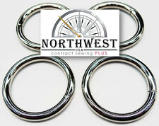 1 1/2 inch Heavy Welded O-Rings Nickle 4 per lot - Great for Macramé Nw8476