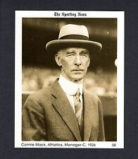 #58 Connie Mack, 1926 Athletics/A's: The Sporting News 1981 Conlon Collection