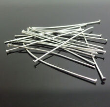200PCS 24MM Design DIY Finding 60% Silver Plate Flat Head Pins Needles