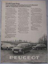 1972 Peugeot Estate range Original advert